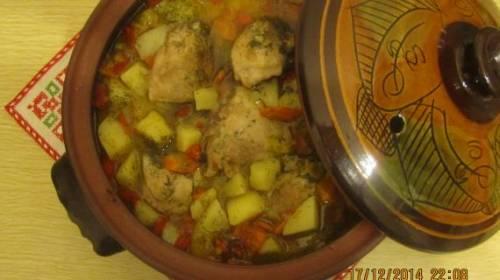 Жаркое с курицей, пошаговый рецепт с фото